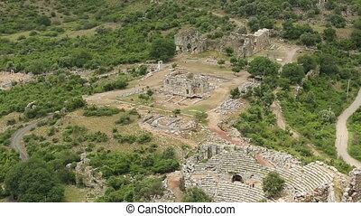 aerial ancient Kaunos city - aerial ancient Kaunos...
