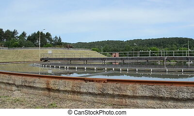 sedimentation water treat - Panorama of water treatment...
