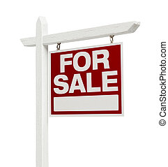 Home For Sale Real Estate Sign with Clipping Path - Right...