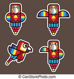 parrot bird abstract cartoon eps 10 vector