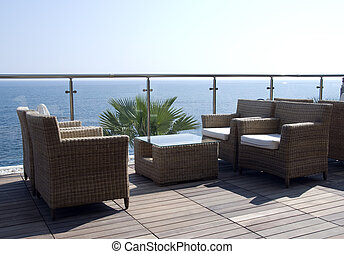 seats with a sea view