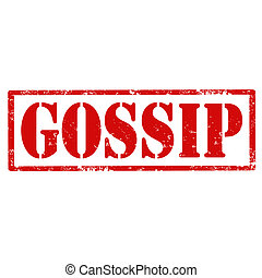 Gossip-stamp - Grunge rubber stamp with text Gossip,vector...
