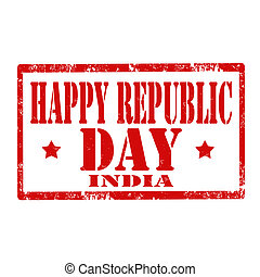 Happy Republic Day-stamp