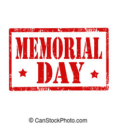 Memorial Day-stamp - Grunge rubber stamp with text Memorial...