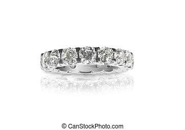 Beautiful Diamond Wedding Anniversary Band Ring - Beautiful...