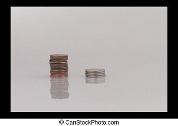 Coin Stacks - Stopmotion of united states coins being...