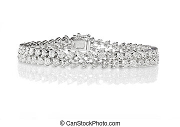 Double Row Diamond Bracelet - Double Row Diamond tennis...