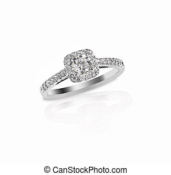 Beautiful diamond wedding ring set with multiple diamonds...