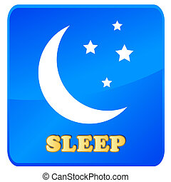 Sleep icon in unique style on a white background