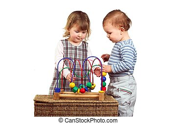 Children play together - One and a half year old children: a...