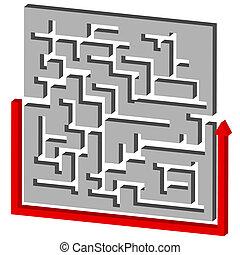 Maze Puzzle Solution