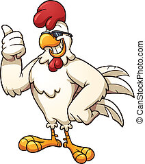 Cool chicken - Cool cartoon chicken. Vector clip art...