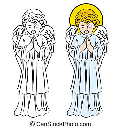 Praying Angel - An image of a praying angel.