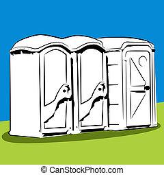 Portable Public Toilets - An image of a portable public...