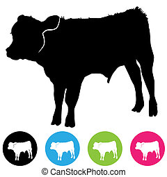 Calf Silhouette - An image of a calf silhouette.