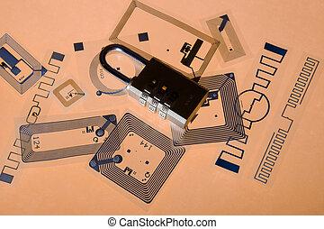 Cipher lock on RFID tags