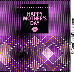 Happy mother's day - Argyle Sweater Background and happy...