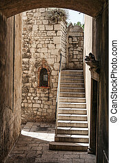 Passage with stairs