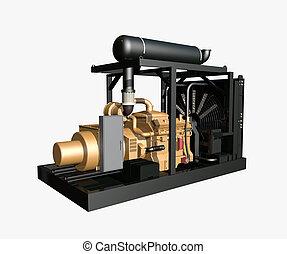 Generator isolated on white background