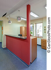 Reception area - A reception area in doctor office, vertical