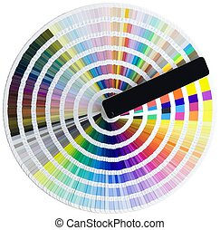 Color scale - Color circle isolated with clipping path