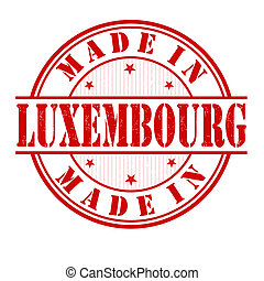 Made in Luxembourg stamp - Made in Luxembourg grunge rubber...