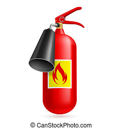 Fire extinguisher - Illustration of fire extinguisher...