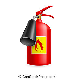 Fire extinguisher isolated on white background. Fire safety