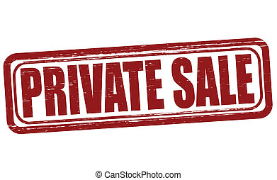 Private sale - Stamp with text private sale inside, vector...
