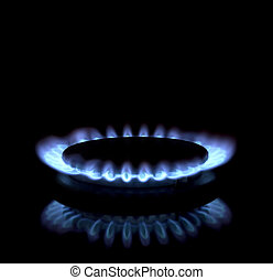 Burner - Close up of a gas burner
