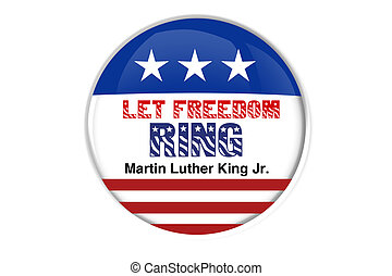 Patriotic badge: Let freedom ring - An abstract illustration...
