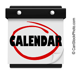 Calendar Word Schedule Planner Tear Pages Day Date -...
