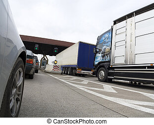 Trucks - Traffic jam