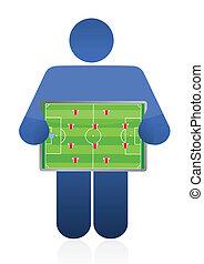 soccer coach illustration design