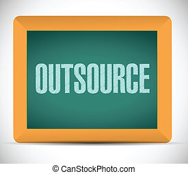 outsource message on a board
