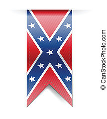 confederate flag banner illustration design over a white...