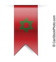 Morocco flag banner illustration design over a white...