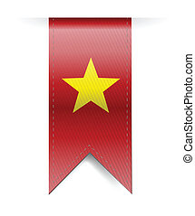 vietnam flag banner illustration design over a white...