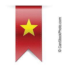 vietnam flag banner illustration design over a white...