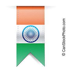 india flag banner illustration design over a white...