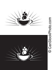 Single stylised Coffee Cup - Illustration of a single Coffee...