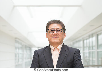 CEO portrait - Portrait of 60s Asian Chinese CEO boss...