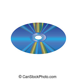 CD DVD vector - image of CD or DVD disc isolated on white...