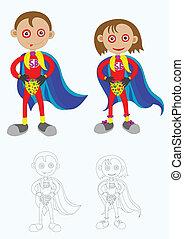 Superboy and super girl