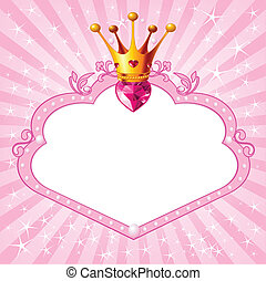 Princess pink frame - Lovely princess pink frame Perfect for...