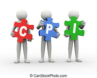 3d man puzzle piece - cpi - 3d rendering of people holding...