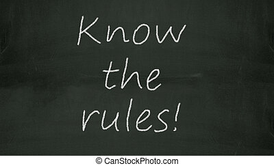 chalkboard know the rules illustration - Illustration of...