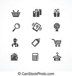 Vector Shopping icons black