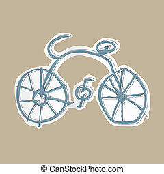 bicycle vector - image of bicycle symbol isolated on...