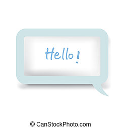 talk bubble vector - image of Speech Bubble isolated on...